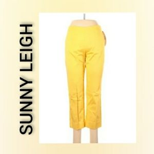 Sunny Leigh Bright Yellow Pants Size 2 NWT